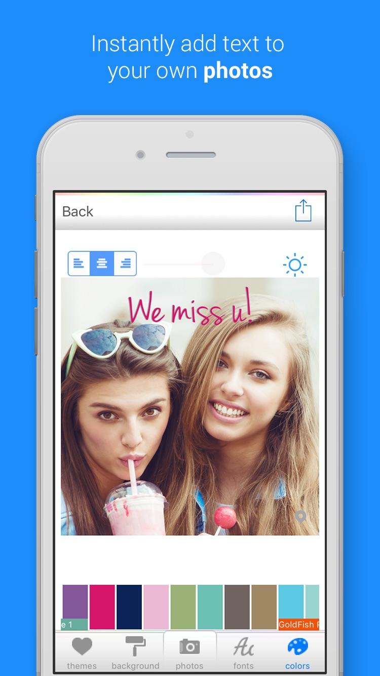 Color Cap - Add custom text to photos & pics for Instagram Screenshot