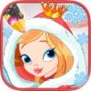 图纸画公主在圣诞节季节。公主的图画书