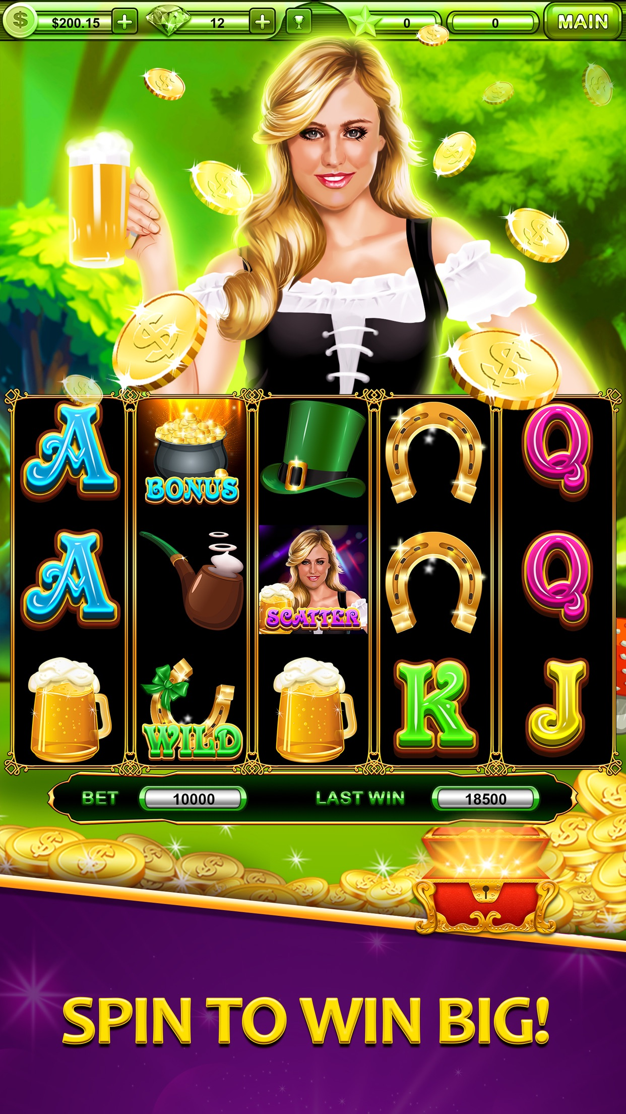 Triple Spin Casino Slots - All New, Grand Vegas Slot Machine Games in the Double Rivers Valley! Screenshot