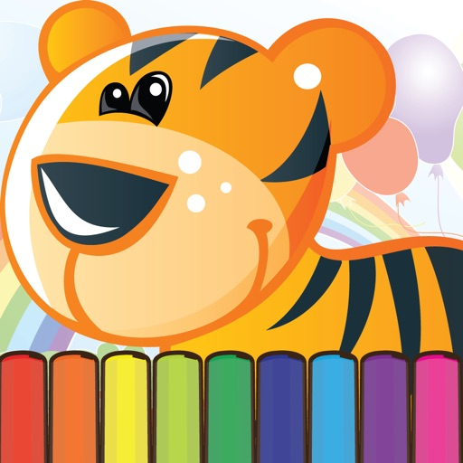 Coloring My Cute Zoo Animals for Preschool boy and girl