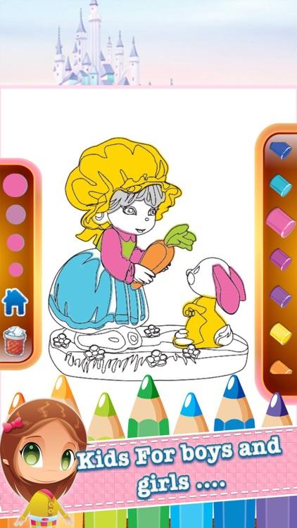 princess kids coloring book inspiration logo page screenshot-4