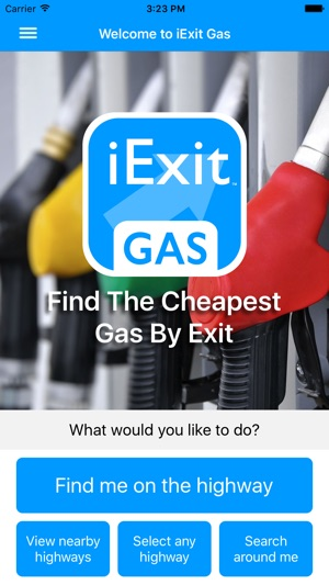 Cheap Gas Prices Near Me >> Iexit Gas Cheapest Gas Prices By Interstate Exit On The App Store