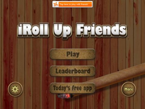 Screenshot of iRoll Up Friends: Multiplayer Rolling and Smoking Simulator Game