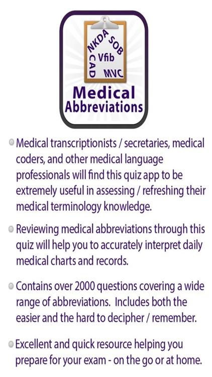 Medical Acronyms & Abbreviations Quiz