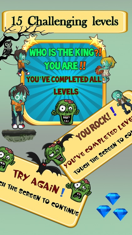 Zombie Challenge Run Game with Zombies: Fun for Early Grades and Kindergarten Kids screenshot-4