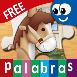 Spanish First Words Book and Kids Puzzles Box Free: Kids Favorite Learning Games in an Interactive Playing Room
