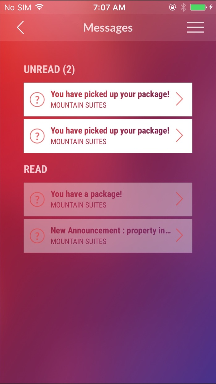 Resident Portal Mobile Screenshot