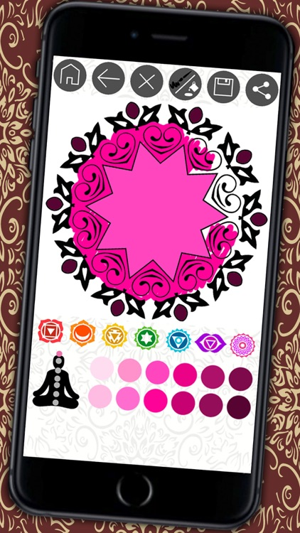 Mandalas coloring book Secret Garden colorfy game for adults - Premium