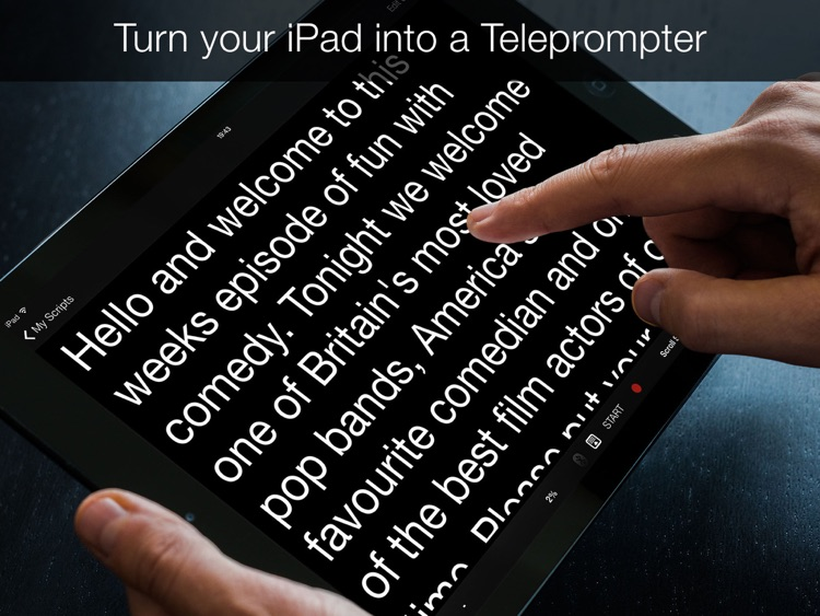 Teleprompter Pro - Scripts, Lyrics & Speech Mirror Prompter