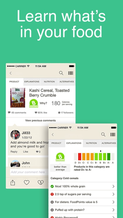 Fooducate - Lose Weight, Eat Healthy,Get Motivated app image