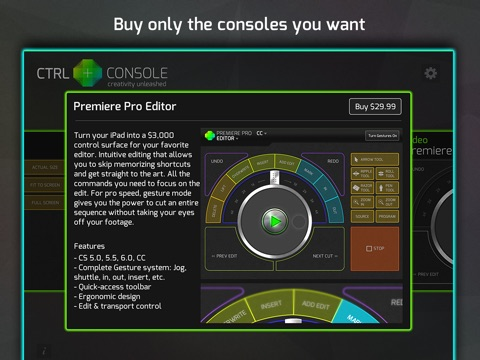 CTRL+Console - Lightroom, Premiere & Final Cut Pro
