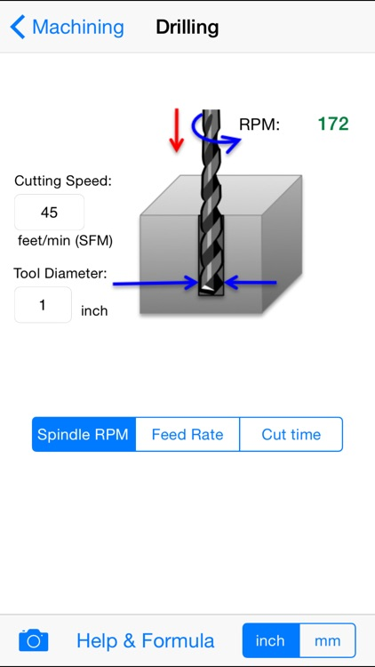 Machining App for Machinists with Milling Turning and Drilling References