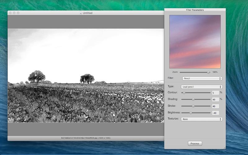 фильтр скетч фотокопия
