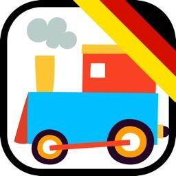 Wort Eisenbahn - Rechtschreibwettbewerb & Wörtersuch-Puzzle für Kinder