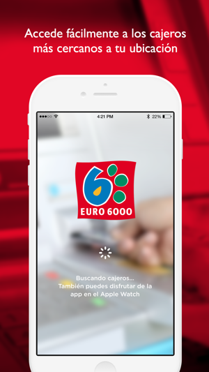 Atms watch euro 6000 localizador de cajeros on the app store for Localizar cajeros