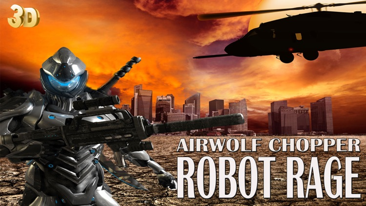 Airwolf Chopper Robot Rage - Iron Giant Super Bot Heli Attack 3D