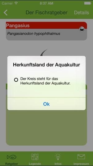 Einkaufsratgeber Fisch Screenshot