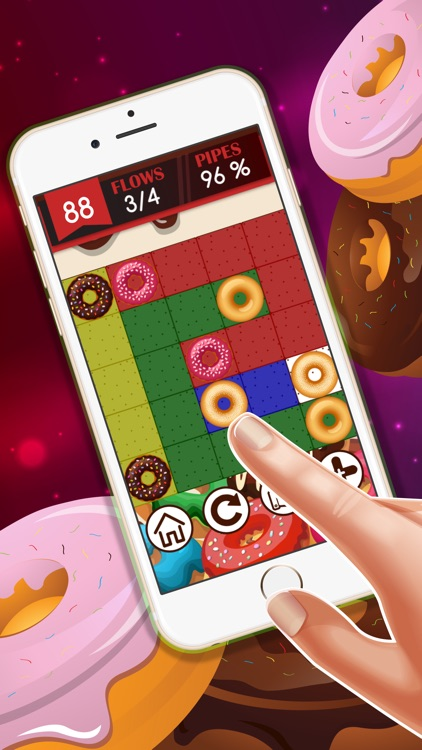 Doughnut Pair hd lite free : - The easy connect game for boys and girls screenshot-3