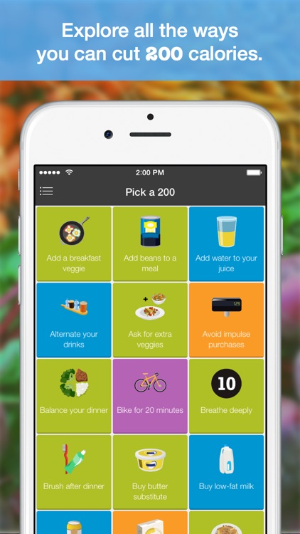 Hello 200 - Healthy Eating Habit Builder & Weight Loss Tracker - Cut 200 calories from your diet daily