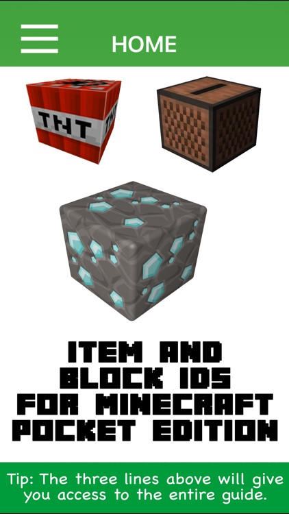 Item and Block IDs For Minecraft Pocket Edition