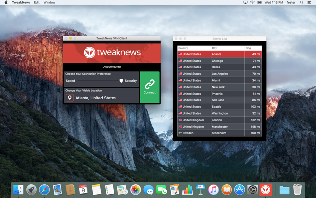 TweakNews VPN on the Mac App Store