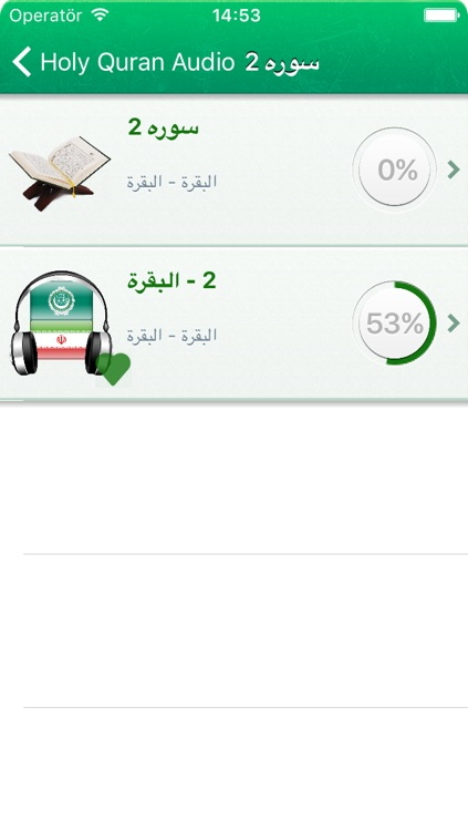 Quran Audio mp3 in Arabic and Farsi / Persian - قرآن صوتی به زبان عربی و به زبان فارسی screenshot-3