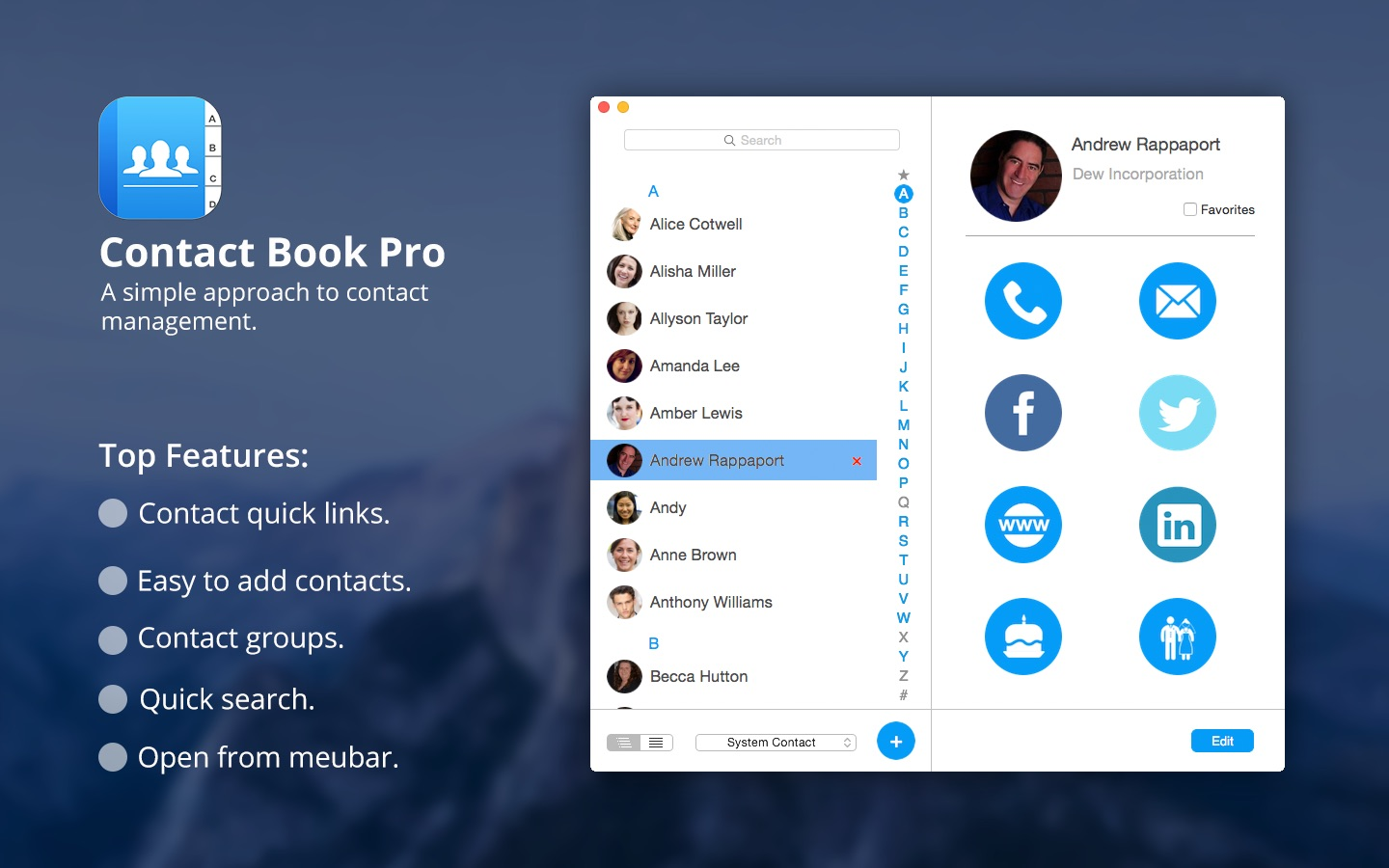 ‎Contact Book Pro on the Mac App Store