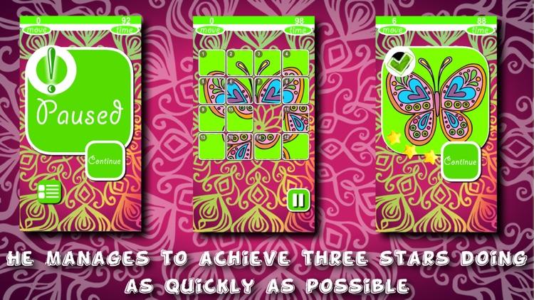 Mandalas Puzzles Slide screenshot-3