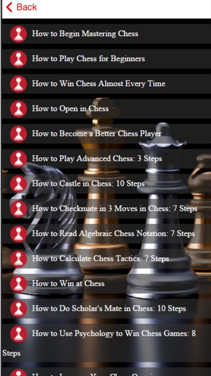 Chess Tips - Improve your Chess