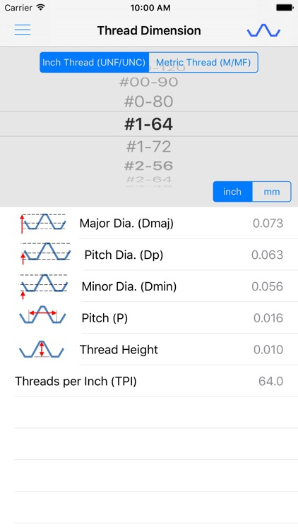 ThreadKing, Ultimate Reference and Calculator for Threads, Drills, Taps screenshot-4