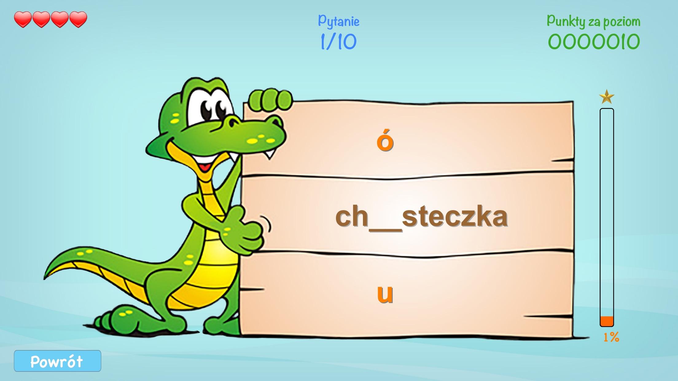 Ortografia dla Dzieci - nauka pisowni poprzez zabawę Screenshot