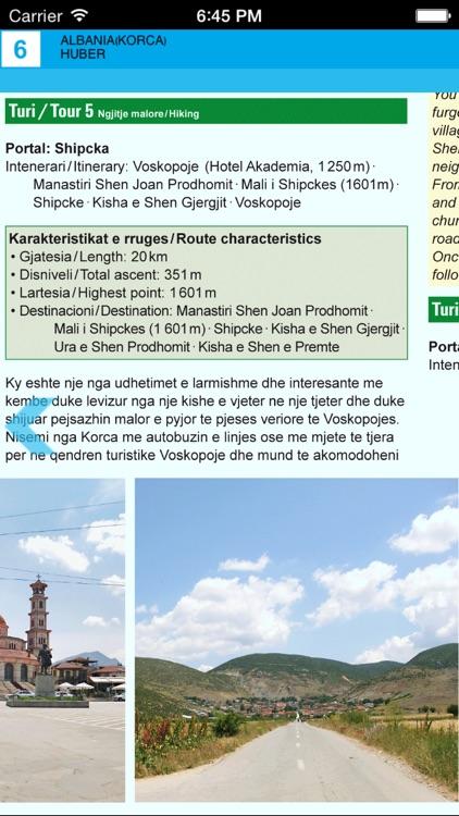 Korce. Tourist map. screenshot-4