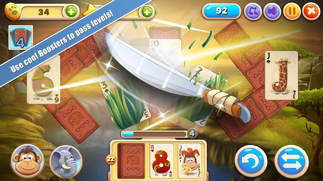 solitaire safari  card game  online game hack and cheat