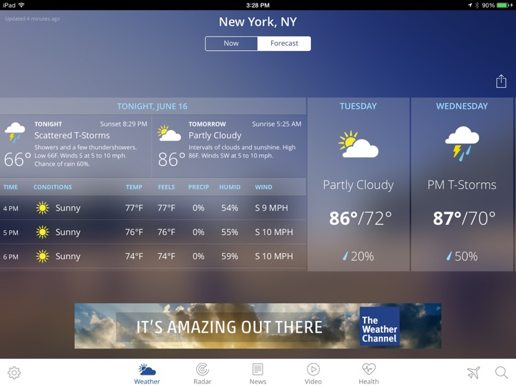 The Weather Channel App for iPad – best local forecast, radar map, and storm tracking
