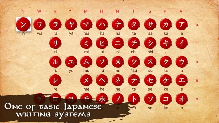 Japanese Alphabet - Katakana Flashcards