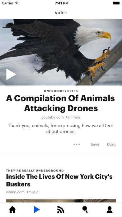 Screenshot 1 for Digg's iPhone app'