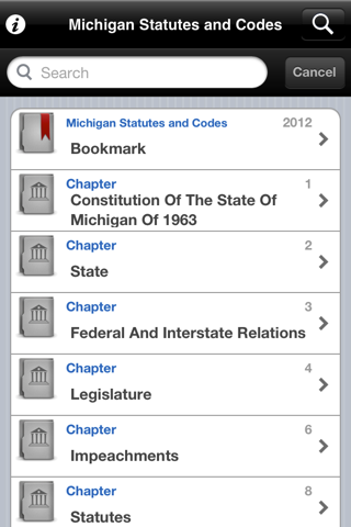 Michigan Laws (MCL), MI Code screenshot 1