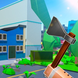 Pixel City Survival Simulator 3D