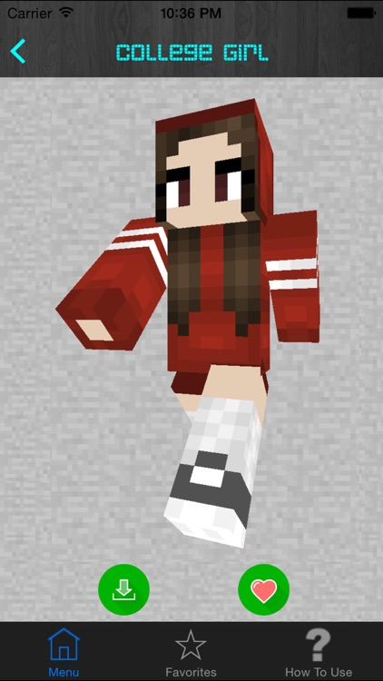 Girl Skins for Minecraft PE (Pocket Edition) - Best Free Skins App for MCPE. screenshot-3