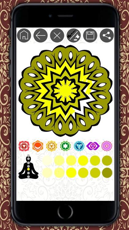 Mandalas coloring book – Secret Garden colorfy game for adults screenshot-4