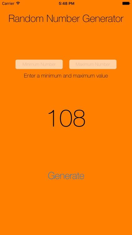 Random Number Generator - Generate Random Numbers