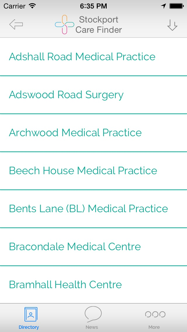 Stockport Health and Care Finder screenshot two