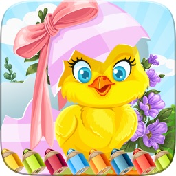 Easter Egg Coloring Book World Paint and Draw Game for Kids