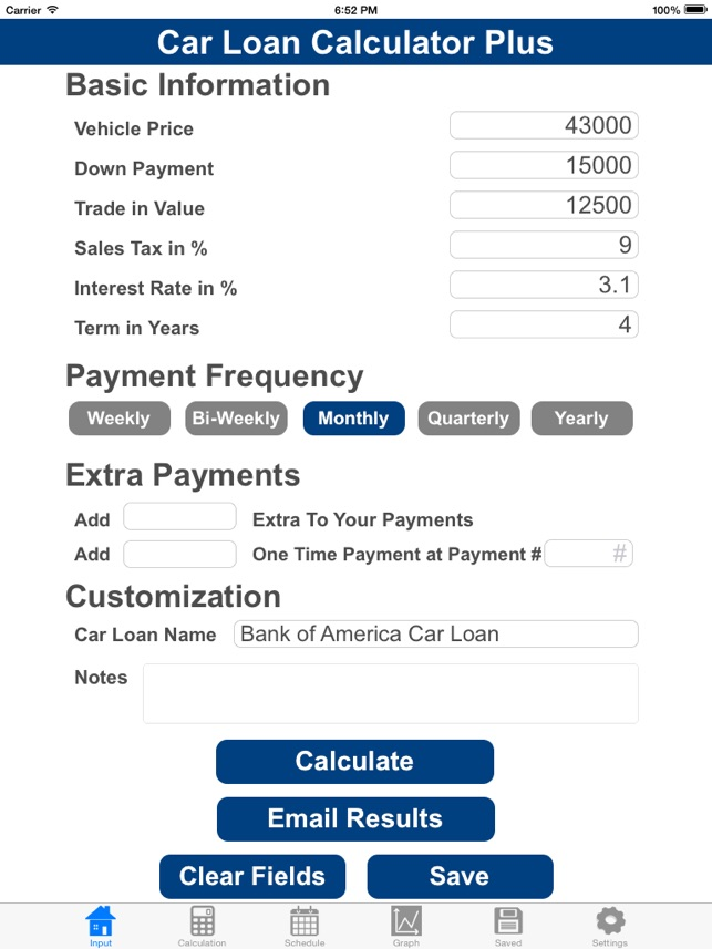 car payment calculator with tax. Black Bedroom Furniture Sets. Home Design Ideas