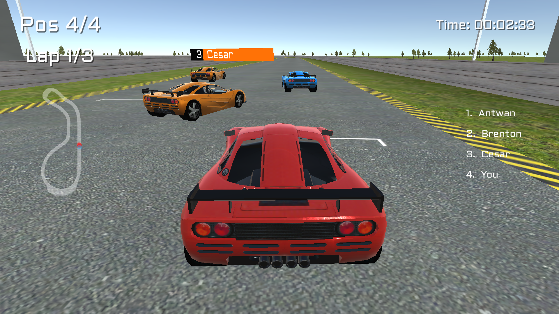 Car Racing : Knockout 3D for TV screenshot 3