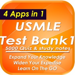 USMLE Test Bank One: +5000 Quiz & Study Notes
