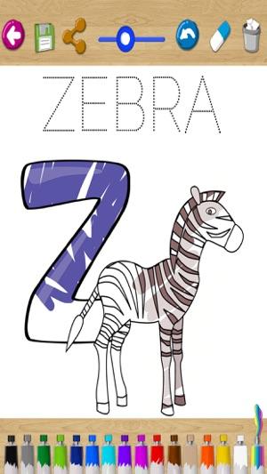 ABC abecedario para pintar Juego educativo de alfabeto inglés con ...