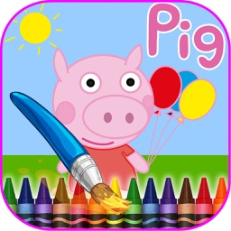 Coloring Book Pig For Kids