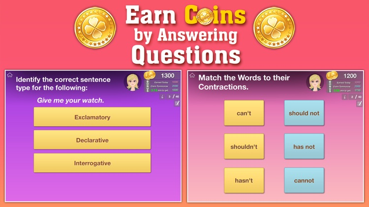 4th Grade Grammar - English grammar exercises fun game by ClassK12 [Lite] screenshot-2