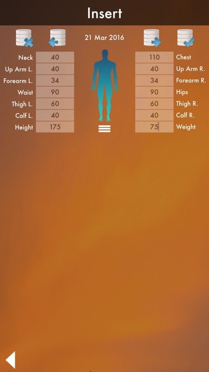 Perfect Body : Fat Calculator & Body Database - Diet and Workout screenshot-4